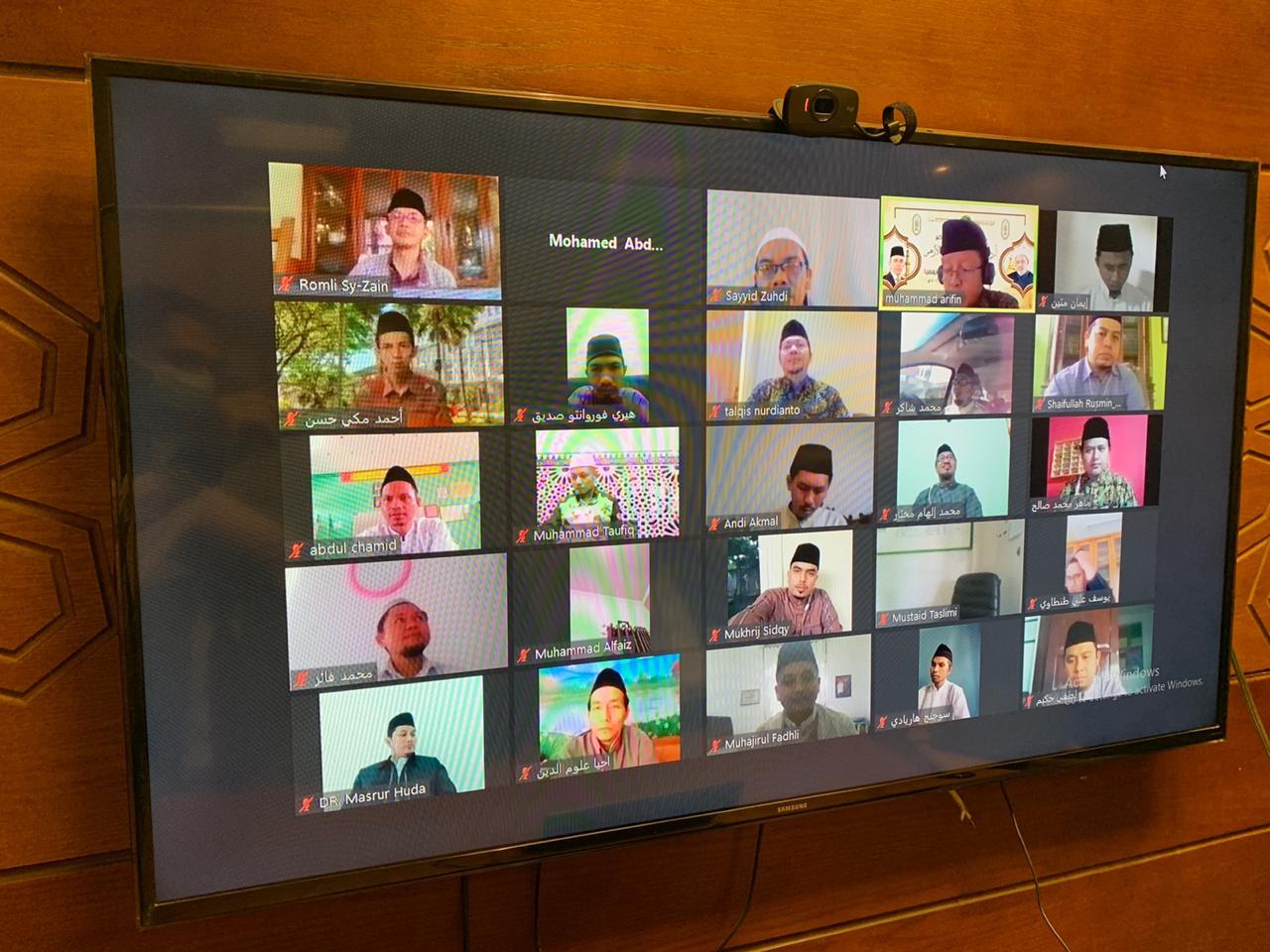 """التوظيف السياسي للدين"""" محاضرة لأئمة إندونيسيا عبر الفيديوكونفرانس"""