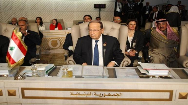 الرئيس اللبناني يتحدث عن اللصوص