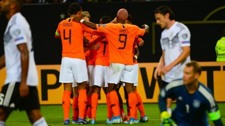 هولندا ضد ألمانيا .. رباعية هولندية تحي امالها للتأهل يورو 2020