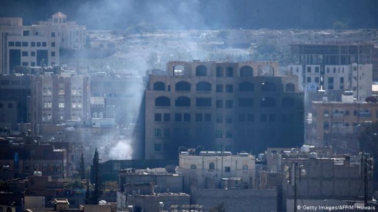 التحالف العربي يشن غارات على صنعاء