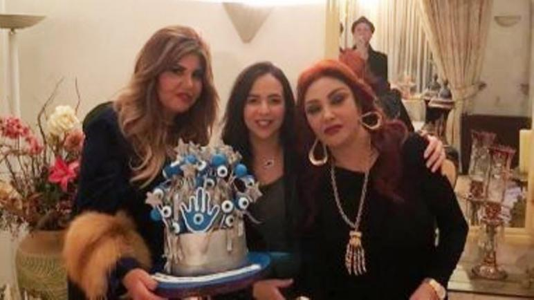 نبيلة عبيد وعيد ميلادها بالصور بين احبابها